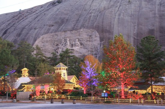 Stone Mountain Christmas.Stone Mountain Christmas Lights Hike Meeting Outside The