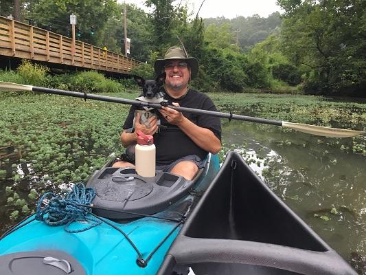 Thomas & Tally paddling